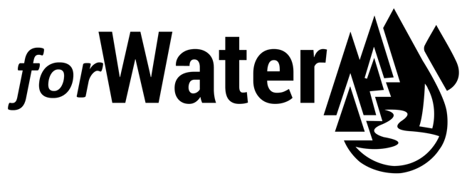black abbreviated  forwater logo