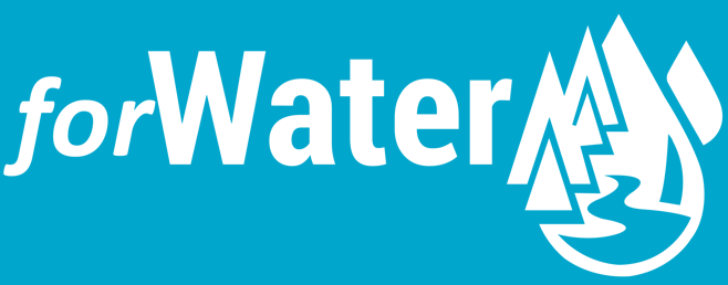 white abbreviated  forwater logo